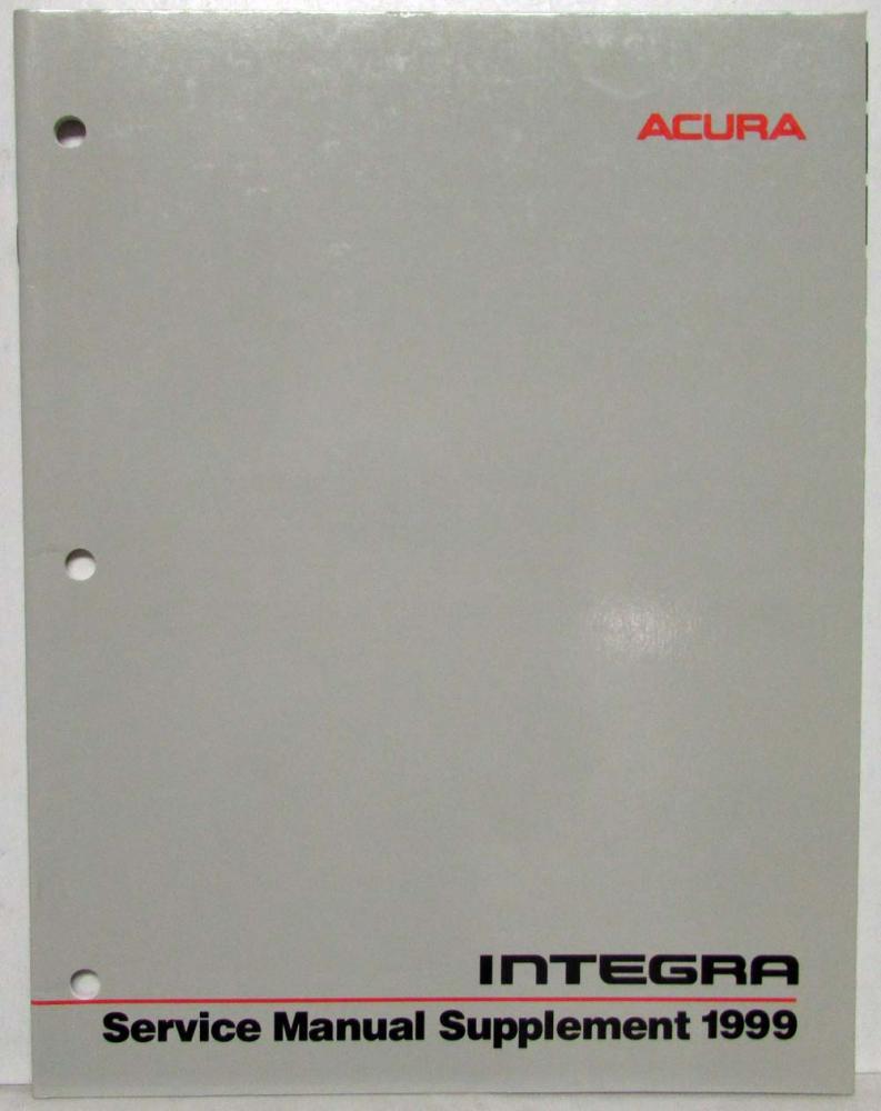 1999 acura integra service shop repair manual supplement rh autopaper com 1999 acura integra repair manual
