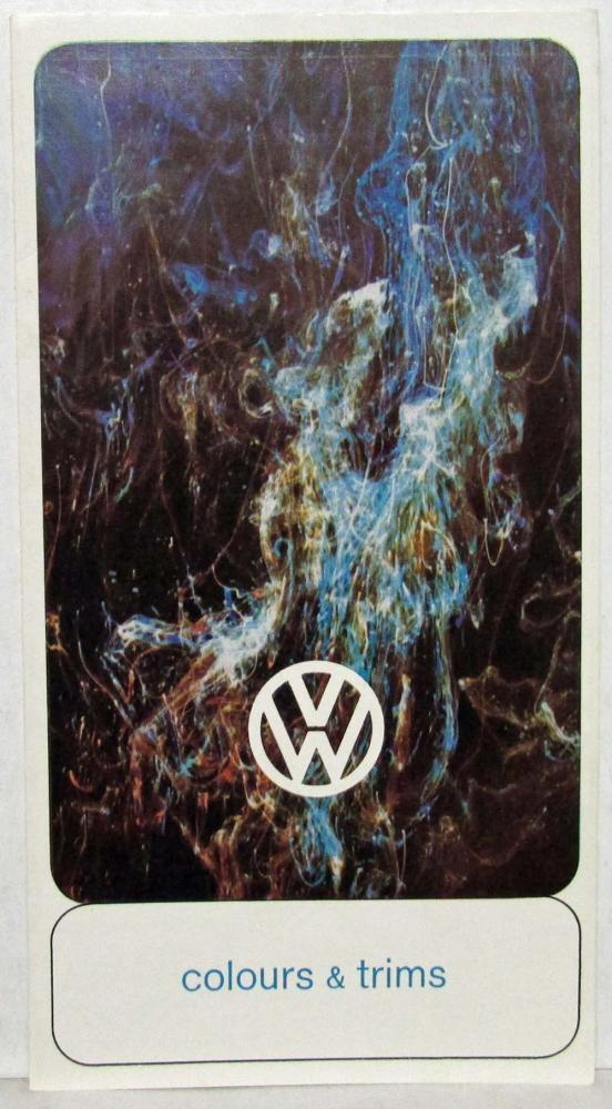 1966 Volkswagen Colours and Trim Sales Folder - UK Market