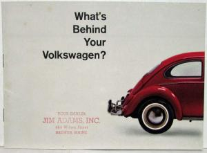 1965 Volkswagen Whats Behind Your VW Sales Booklet