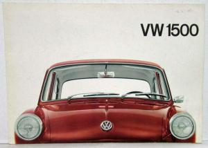 1965-1969 VW 1500 Sedan Sales Folder - German Text