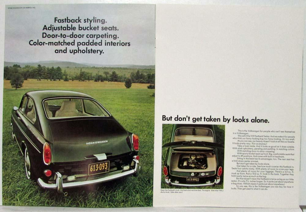 1969 VW Fastback Now Can You See Yourself in a Volkswagen