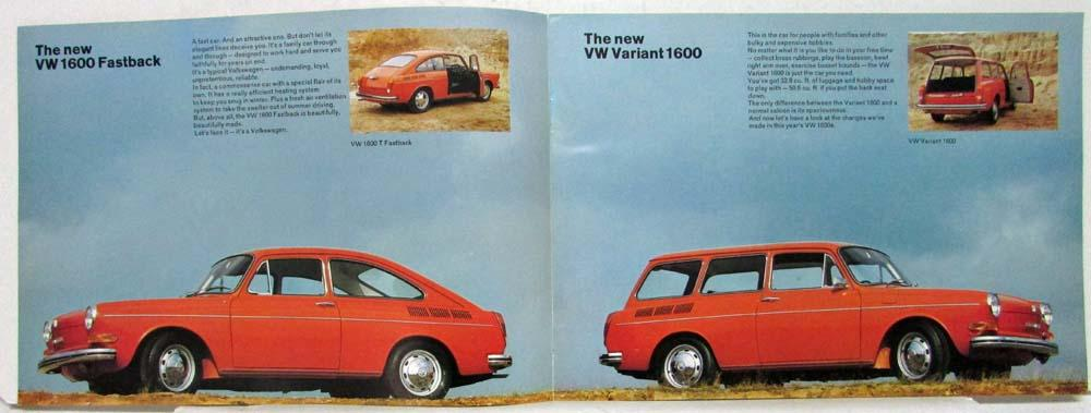 1970 VW 1600 Attractive Reliable Economical Bigger & Better