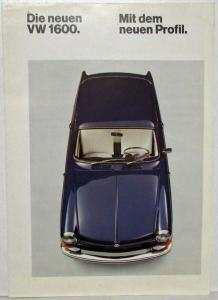 1970 VW 1600 with New Profile Sales Folder - German Text