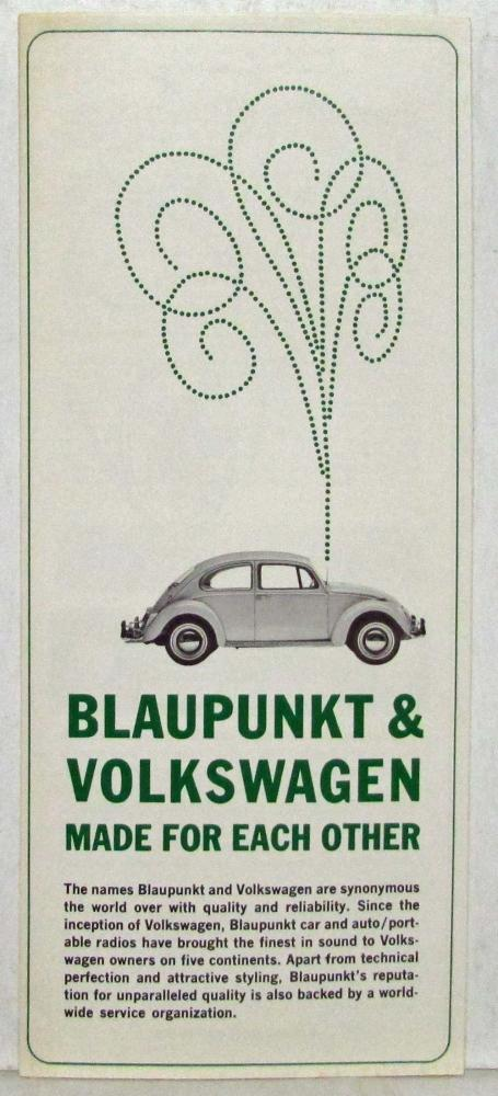 1970 Volkswagen and Blaupunkt Made for Each Other Sales Folder