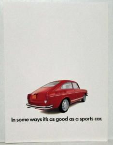 1970 VW Type 3 In Some Ways as Good as a Sports Car Sales Folder