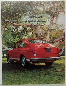 1971 VW Type 3 a Third Kind of Car Sales Folder