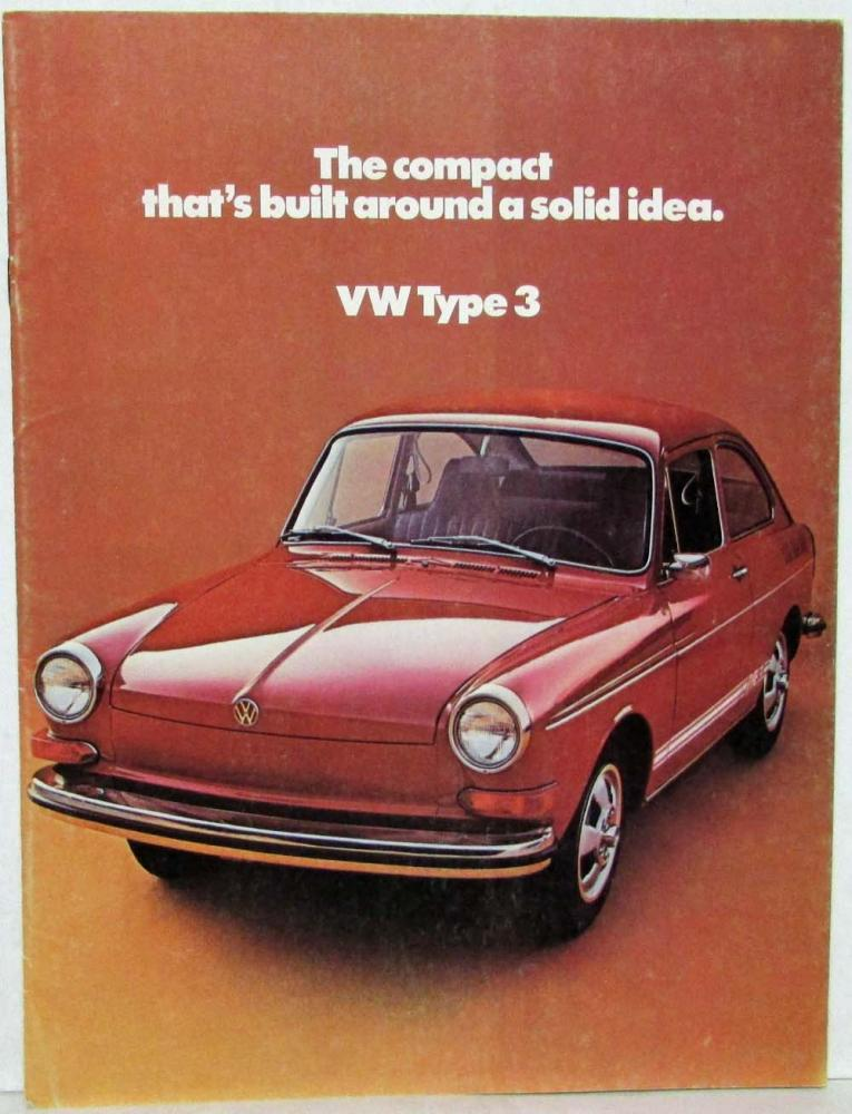 1972 VW Type 3 Compact Built Around a Solid Idea Sales Folder