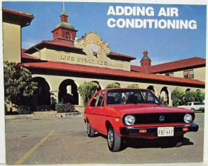 1973-1974 VW Adding Air Conditioning Sales Brochure