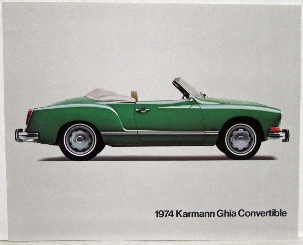 1974 Vw Karmann Ghia Green Convertible Spec Sheet 1975 Volkswagen