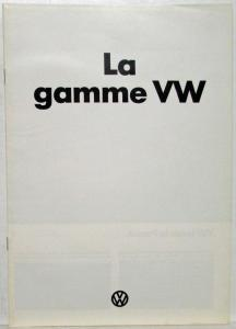 1974 VW Range Sales Brochure - French Text