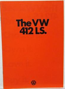 1974 VW 412LS Orange Cover Sales Brochure - UK Market Right-Hand Drive