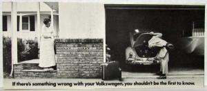 1969 VW If Something is Wrong with Your Volkswagen Sales Folder