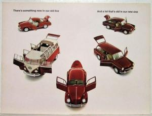 1966 VW There is Something New in Our Old Line and Vice Versa Sales Brochure