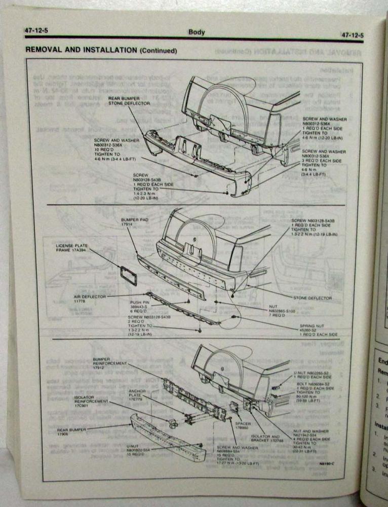 1991 Lincoln Mark Vii Service Shop Repair Manual