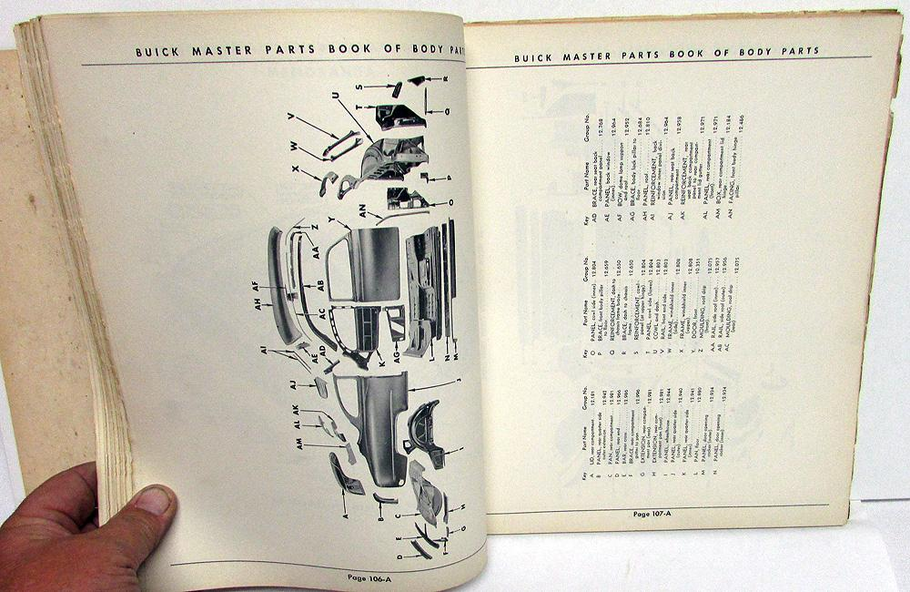 Sensational 1928 To 1952 Buick Master Body Parts Book Catalog Original Full Line Wiring 101 Cranwise Assnl