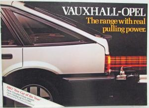 1982 Vauxhall-Opel Range with Real Pulling Power Sales Brochure - UK