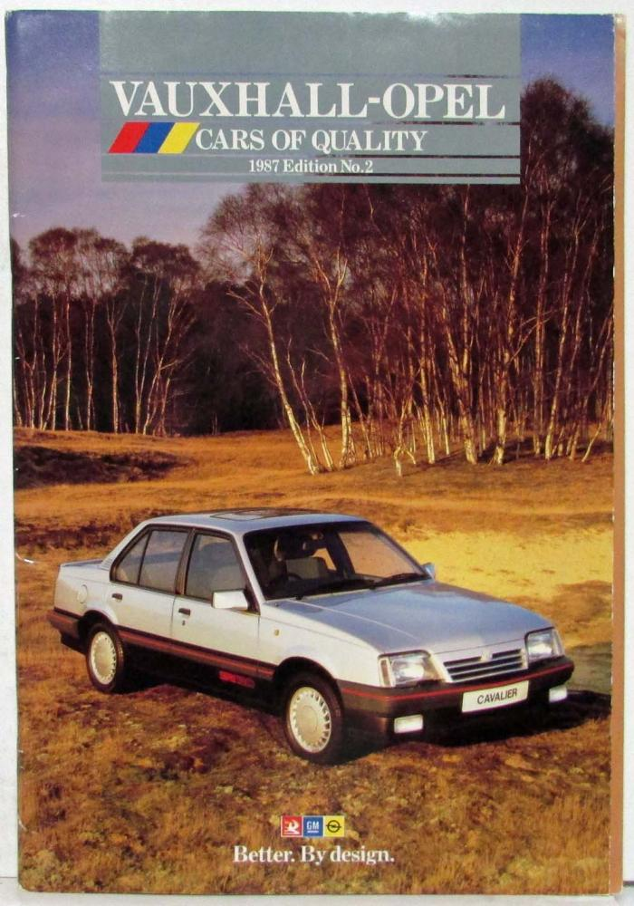 1987 Vauxhall-Opel Cars of Quality Edition No 2 Sales Catalog - UK