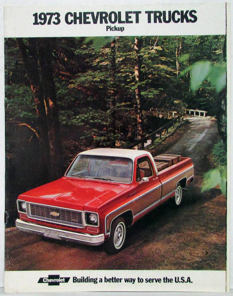 1973 Chevrolet Pickup Fleetside Stepside Crew Cab Truck Sales 1949 Chevy Brochure Rev 1