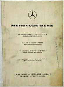 1958 Mercedes Benz Agencies and Service Stations List Part II - Multi-Language