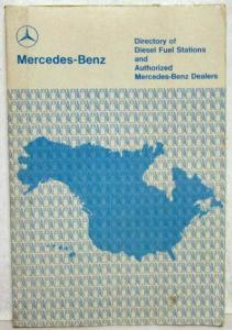 1979 Mercedes Benz Directory of Diesel Fuel Stations & Authorized Dealers