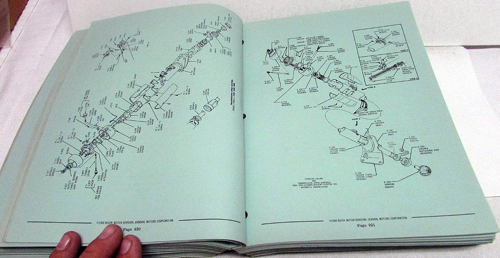 1966 1967 1968 Buick Dealer Chassis Parts Book Catalog GS