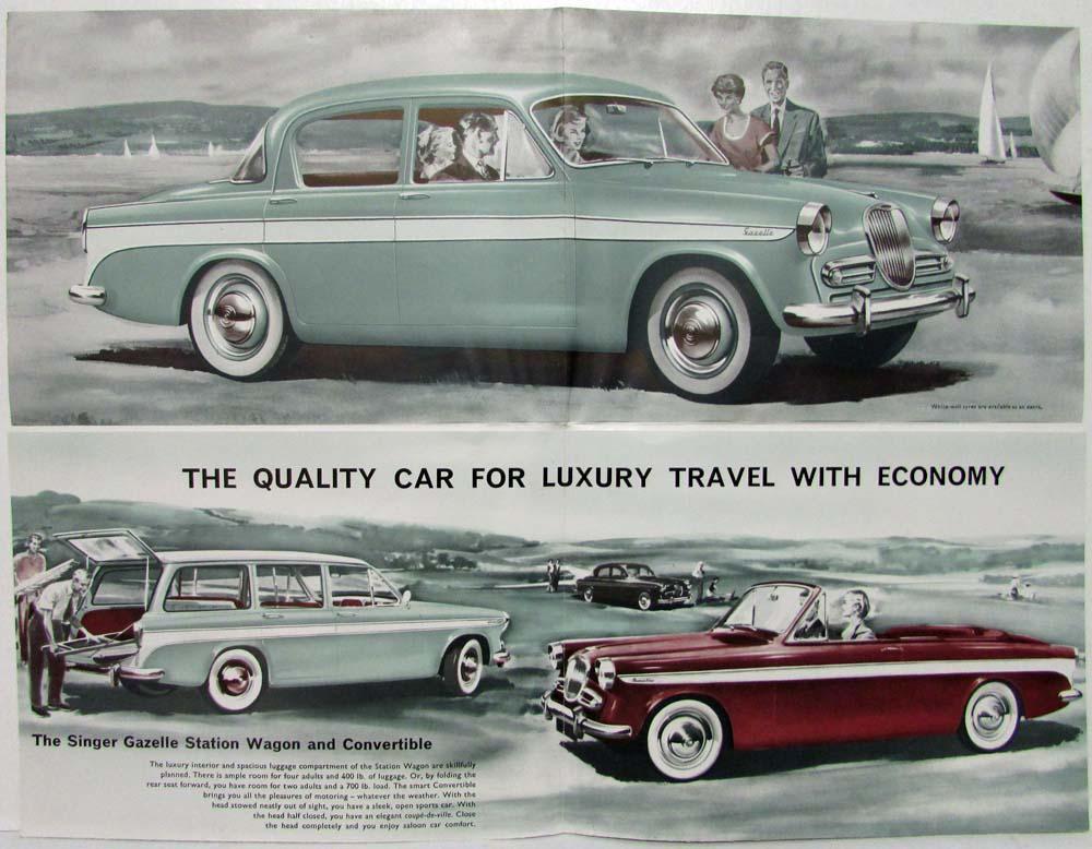 1959 1960 Singer Gazelle Sales Folder Saloon Convertible Station Wagon