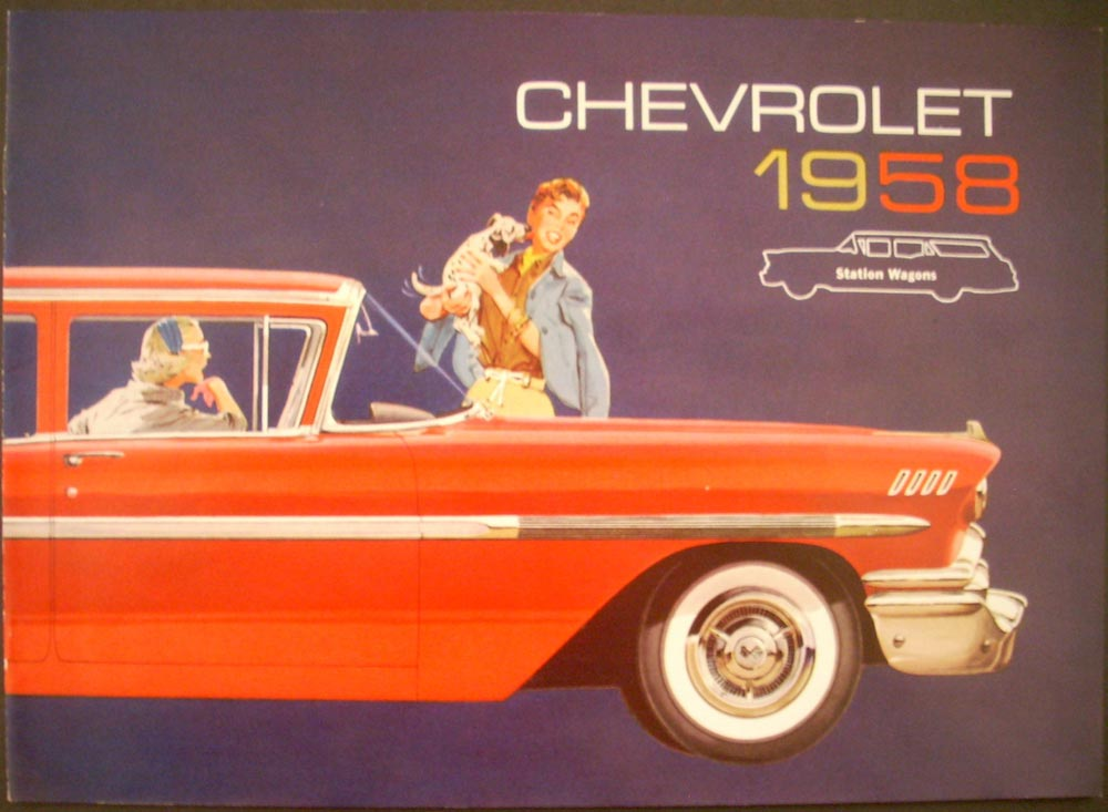 1958 Chevrolet Nomad Yeoman Brookwood Station Wagon Sales Brochure Original NOS