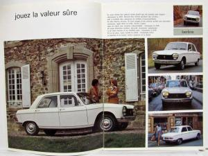 1976 Peugeot 204 Sales Brochure - French Text