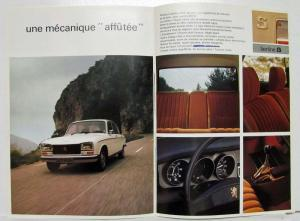 1976 Peugeot 304 Sedan and Station Wagon Sales Brochure - French Text