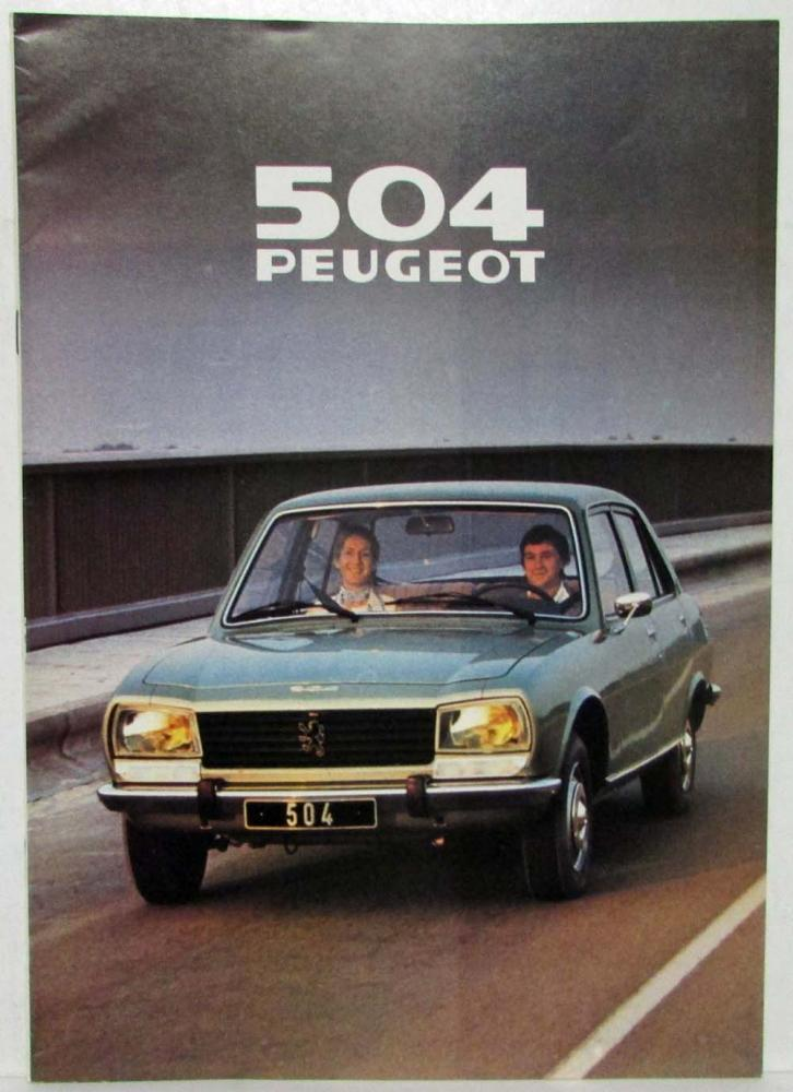 1979 Peugeot 504 Gas And Diesel Sedan Sales Brochure French Text