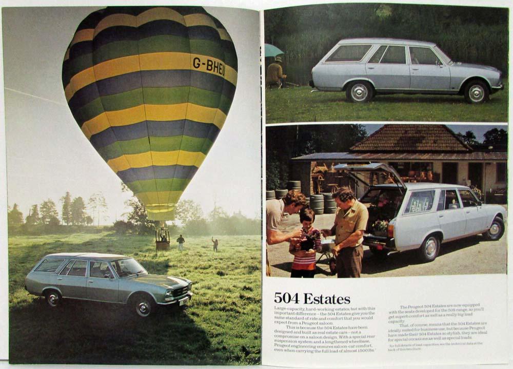 1981 Peugeot 504 Sales Brochure Uk Market