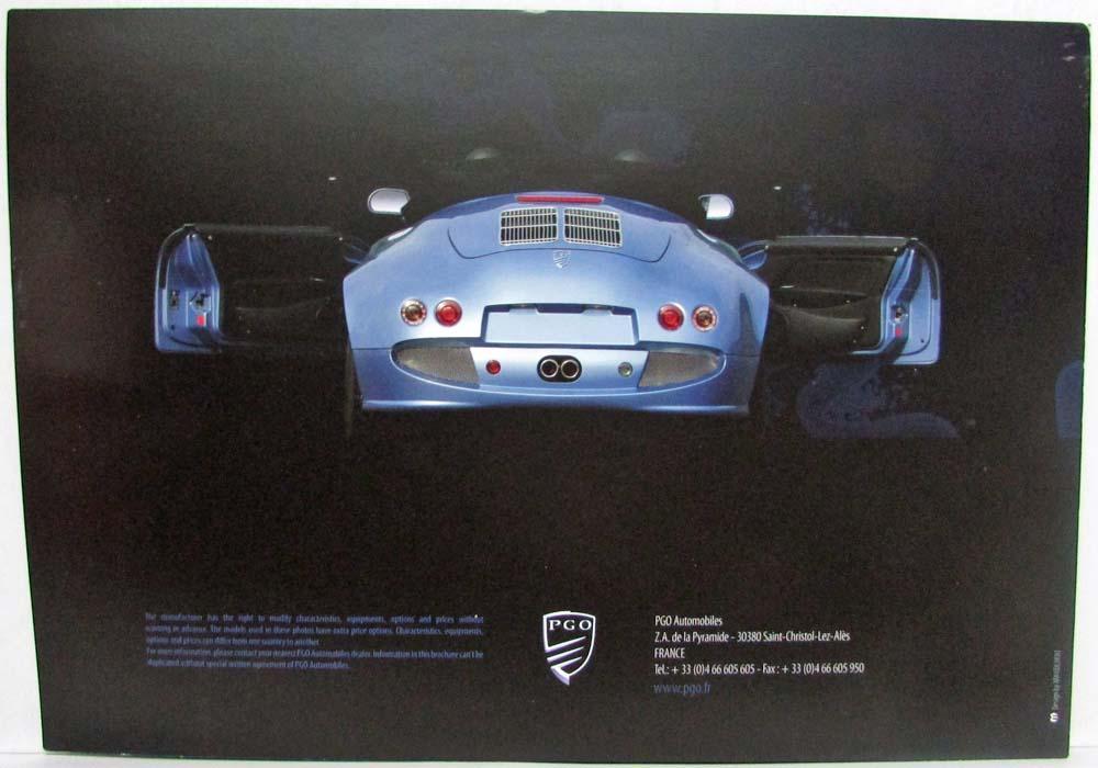 2009 2011 Pgo Cevennes Sales Brochure English Text