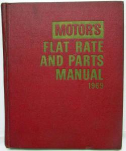 1969 Motors Flat Rate and Parts Manual 41st Edition Buick Chevrolet Ford Dodge
