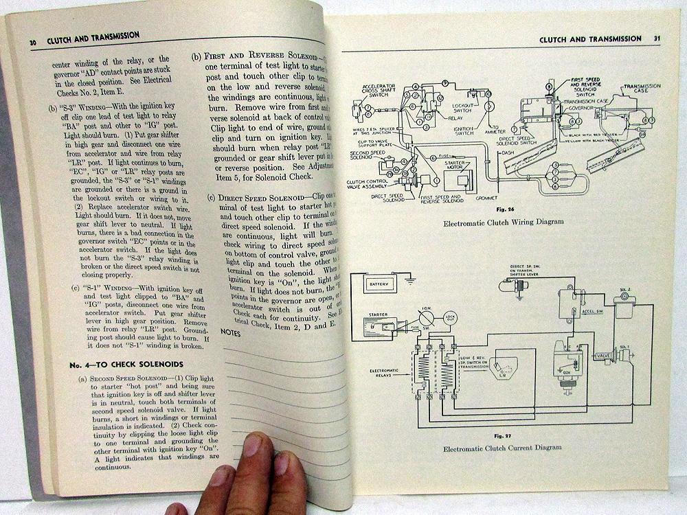 1942 packard dealer service shop manual 20th series repair specs original  rare