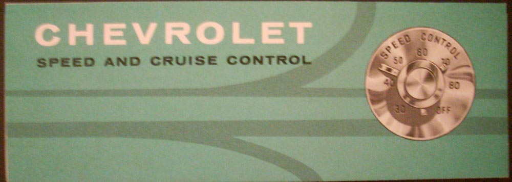1960 Chevrolet Speed and Cruise Control Brochure NOS Original Impala Bel Air 60