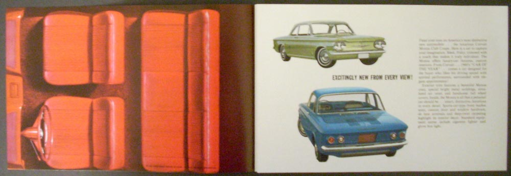 1960 Chevrolet Corvair Monza Club Coupe Sales Folder Original NOS