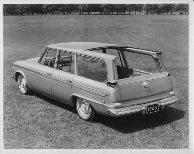 1963 Studebaker Sliding Roof Wagonaire Press Photo and Release 0047
