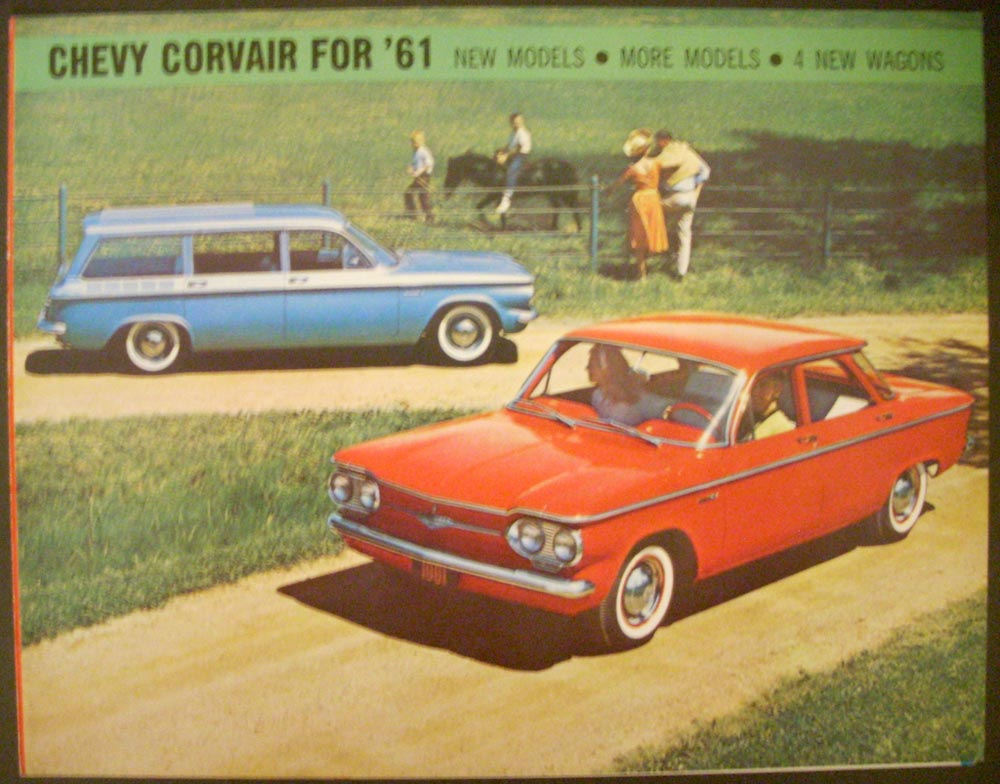1961 Chevrolet Corvair 500 700 Wagon Monza Club Coupe Greenbrier Sales Folder