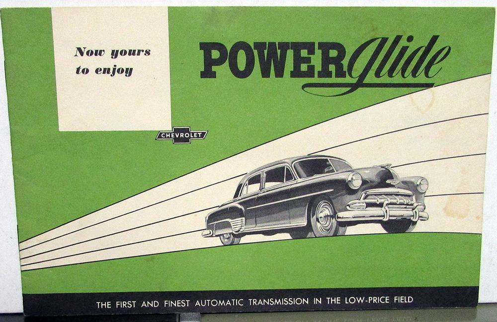 1952 Chevrolet Dealer Sales Brochure Powerglide Transmission In Cars Option