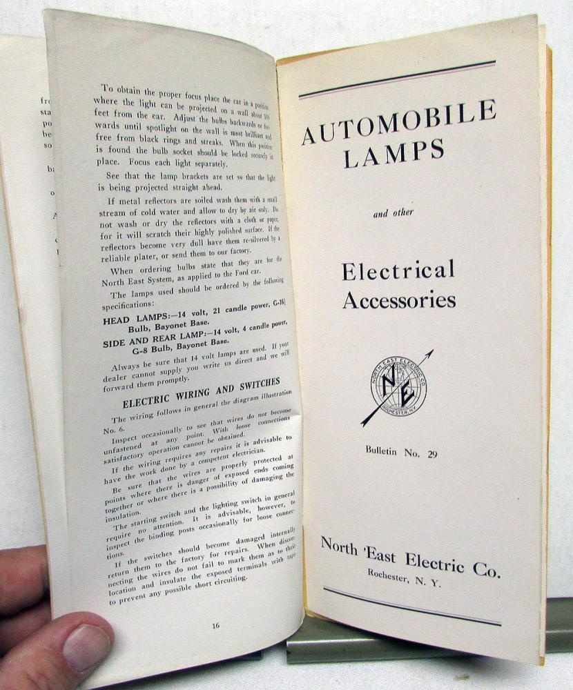 1913-1915 ford model t starting lighting owners instruction manual install  care