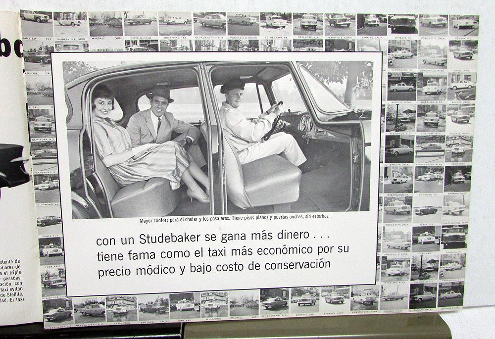 1961 Studebaker Taxi Foreign Dealer S Brochure Spanish Text Cab Original