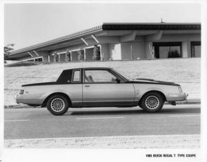 1983 Buick Regal T Type Coupe Press Photo 0001