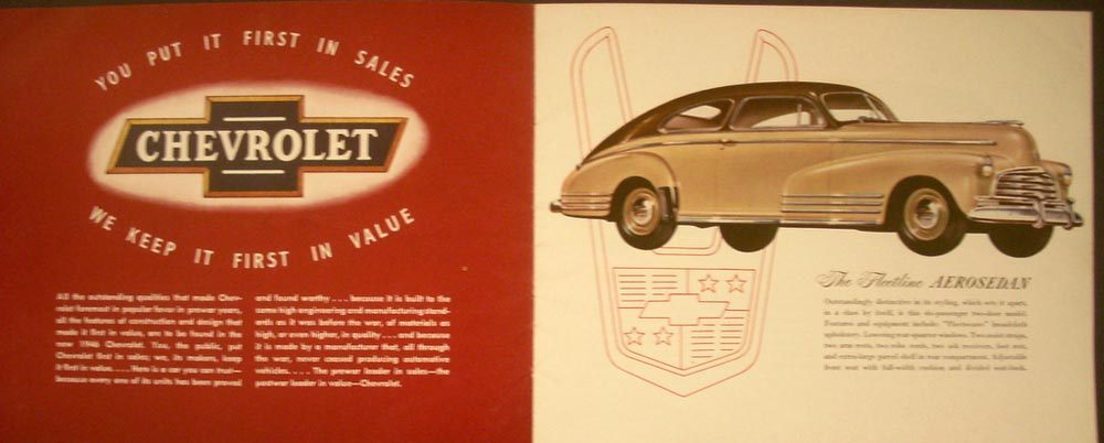 Chevrolet Dealer Color Sales Brochure Fleetline Fleetmaster