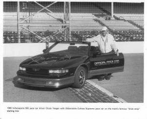 1988 Oldsmobile Cutlass Supreme Indy 500 Pace Car Press Photo 0038 Chuck Yeager
