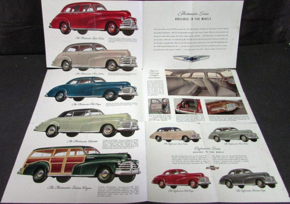 1948 Chevrolet Dealer Color Sales Brochure Fleetline