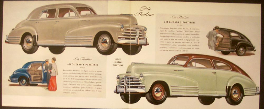 1948 Chevrolet Foreign Dealer Color Sales Brochure Belgian