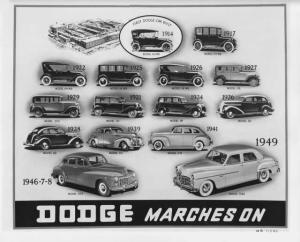 1914-1949 Dodge Cars Press Photo 0031 D30 D24 D2 DG DR 126 116 114 110