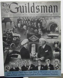 1935 The Guildsman Fisher Body Industry Magazine Chevy Cadillac Olds Pontiac GM