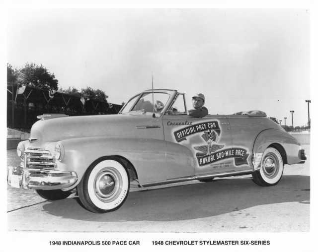 1948 Chevrolet Stylemaster Six-Series Indianapolis 500 Pace Car Press Photo 0062