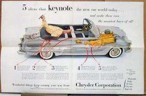 1954 Chrysler Dodge De Soto Plymouth Imperial Magazine & Newspaper Ad Slick